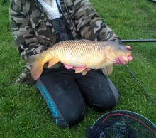 gill with a 13lb 8oz carp of ben pond